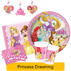 "Disney PRINCESS DREAMING Party Range (Birthday/Plates/Napkins/Banner/Foil/18"")"