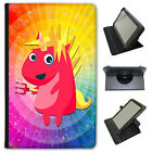 Mythical Magical Unicorns Dressing Up Universal Leather Case For Nvidia Tablets
