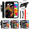 For Samsung Galaxy Core Prime G360 Clip Stand Case Speedometer Flames