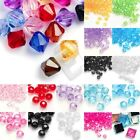 400pcs Transparent Acrylic Beads Faceted Bicone 4x3x3mm Jewelry Findings Lots