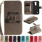 Wallet Leather Stand W/strap Flip Cards Slot Case Cover For LG Tribute 5 K7/K10