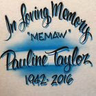 Airbrushed In Loving Memory w/ Name & Dates S M L XL 2X RIP Shirt