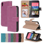 Luxury Flip Wallet Retro Phone Case PU Leather Cover Skin for HTC Desire
