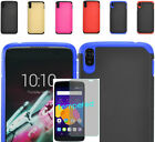 """Tempered Glass+2Layer Dual Hybrid Case Cover For Alcatel One Touch Idol 3 5.5"""""""