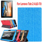 For Lenovo Tab 2 A10-70 Leather Stand Case Cover Bundle Tempered Glass Film