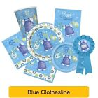 Blue Clothesline - New Baby Shower Boy PARTY RANGE (Decorations & Tableware)