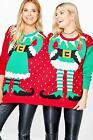 Boohoo Womens Christmas Jumper in Various Colours