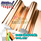 *Rose Gold Copper Chrome Brushed Aluminum Vinyl Wrap Sticker Decal Sheet Film