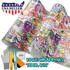*JDM Star Stickerbomb Graffiti Cartoon Vinyl Sticker Car Wrap Decal Sheet #ST