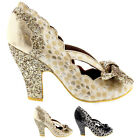 Womens Irregular Choice Curtain Call High Heels Evening Court Shoes UK 3.5-8.5