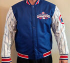 2016 Chicago Cubs World Series Champions Champs Cotton Twill Jacket pinstripes
