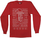 Threadrock Men's Donald Trump Ugly Christmas Sweater Long Sleeve T-Shirt