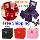 Small Cube Storage Box Jewellery Accessory Stackable Organiser Case Ring Tray BP