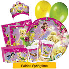 Fairies SPRINGTIME Birthday Party Range (Tableware & Decorations) Disney Procos