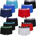 DIESEL PACK OF 3 BOXER TRUNKS SHORTS BLUE NAVY RED BLACK COTTON UNDERWEAR MENS