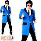Teddy Boy Mens Fancy Dress 1950s 50s Rock n Roll Elvis Adult Costume Outfit New