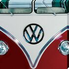 VW Red Canvas Print 40x40cm