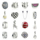 Authentic Solid 925 Sterling Silver Charms B fit European Bead Charm Bracelets