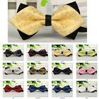 Top quality duotone Mens Pre Tied Wedding Party Fancy Plain Necktie tie Bow ties