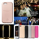 LED White Light Up Latest Selfie Phone Case Cover For iPhone 5 SE 6 6S 7 Plus