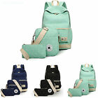 Casual Canvas Girls Womens Backpack Shoulder Bag Rucksack Travel School bags Set