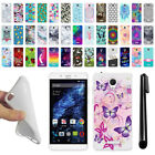 For BLU Studio XL TPU SILICONE Rubber Soft Protective Case Cover + Pen