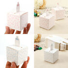 50 Feeding Bottle Laser Cut Candy Gift Boxes Wedding Party Favor Pink Blue