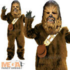 Deluxe Chewbacca Boys Fancy Dress Star Wars Movie Kids Childrens Costume Outfit