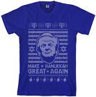 Threadrock Men's Trump Make Hanukkah Great Again Ugly Sweater T-Shirt Holiday