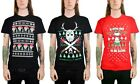 Men's Ugly Christmas T Shirts Nightmare Freddy Kruger Jason Vorhees Skulls Knife