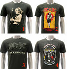 ASIA SIZE Rock Band T-shirt AC/DC Hell's Bells Guitar Casual Tee Men RABB