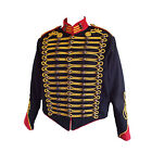 """Steampunk"" Military Jacket by SDL in black + red trim & gold braid decoration"