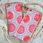 Round Watermelon Pattern Soft Slim TPU/Gel Cover Cute Case For iPhone 6 6S Gift