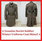 ☆ Original ☭ Soviet Russian Army Winter Uniform Coat Shinel + Belt + Epaulette!