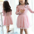Toddler Baby Girls Autumn Clothes Long Sleeve Party Princess Flower Tutu Dresses