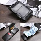 Men's New Genuine Leather Bifold Money Clip Wallet ID Credit Card B20E