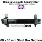 Pad Lockable Drop In Security Door or Window Bar - Shed Garage Stable Door 60x30