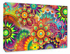 Flower Picture Abstract Psychedelic Flower Picture Decor Canvas Print A1/A2/A3