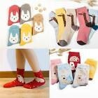 Women Girl Casual Soft Socks Wool Blended Giraffe Rabbit Animals Warmer Socks LA
