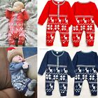 Boys Girls Xmas Deer Infant Knit Romper Jumpsuit Bodysuit Clothes Outfits B20E