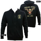Authentic SAILOR JERRY Tattoo Pure Flight Eagle ZipUp Hoodie S M L XL 2XL NEW