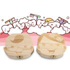 Milk Teeth Wooden Tooth Storage Box Small Kids Childs Baby Save 3-6 Years DH