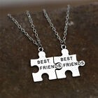 2XNew Best Friends Pendant Necklaces Friendship Puzzle Letters Chain NecklacesH