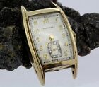Mens Vintage 17 Jewel Longines Gold Filled Tank 25mm Wide Watch Sub Seconds Dial