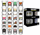 Official SHOT GLASS Set of 4 (Film/Music/TV/Gaming Character Themes) Glasses/Bar