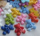 100/300x Cute Bear Plastic Buttons For Kid's Sewing Notions Crafts Lots E482