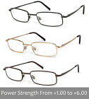 Man Woman Metal Frame Clear Lens Reading Vision Glasses - Up to 6.00 RE88