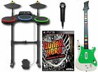 PS3 Warriors of Rock Complete Set Bundle w/NEW wireless guitar hero drum game