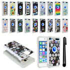 For Apple iPod Touch 5 5th/ 6 6th Gen Studded Bling HYBRID Case Cover + Pen