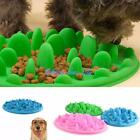 Pets Dog Cat Slow Eating Feeder Bowl Feed Dish Puppy Silicone Anti Choke Gulp LD